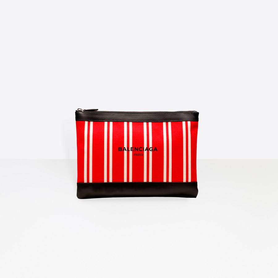 BALENCIAGA Navy Clip M Navy Handbag D f