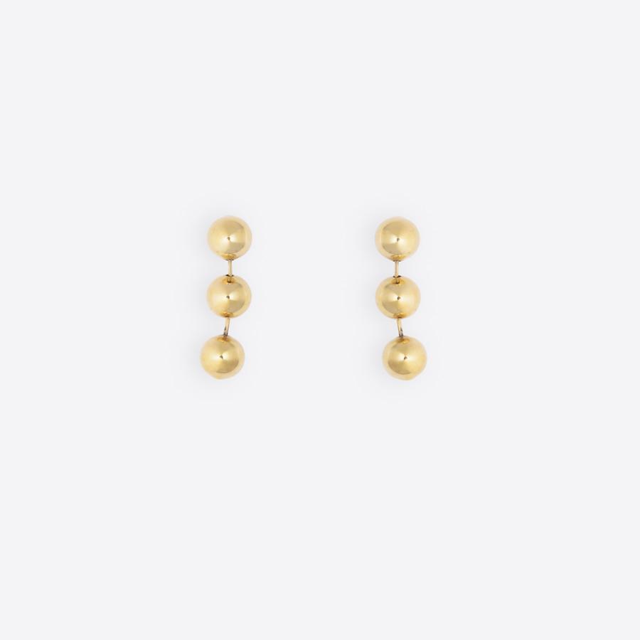 BALENCIAGA Metal Pearl Earrings Earring D f