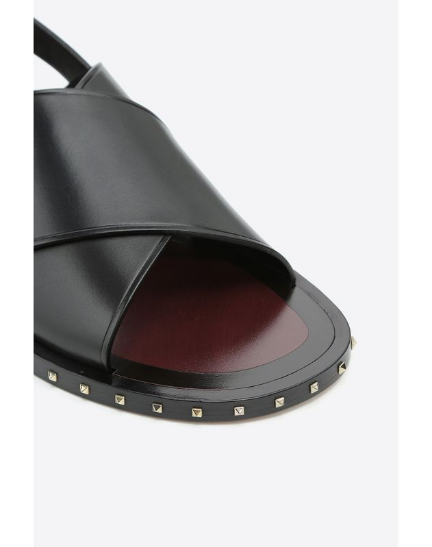 SOLE ROCKSTUD VACHETTA LEATHER SANDAL