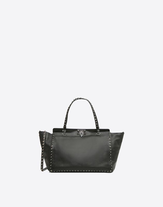 070f92e47d2 Rockstud Noir Medium Tote for Woman | Valentino Online Boutique