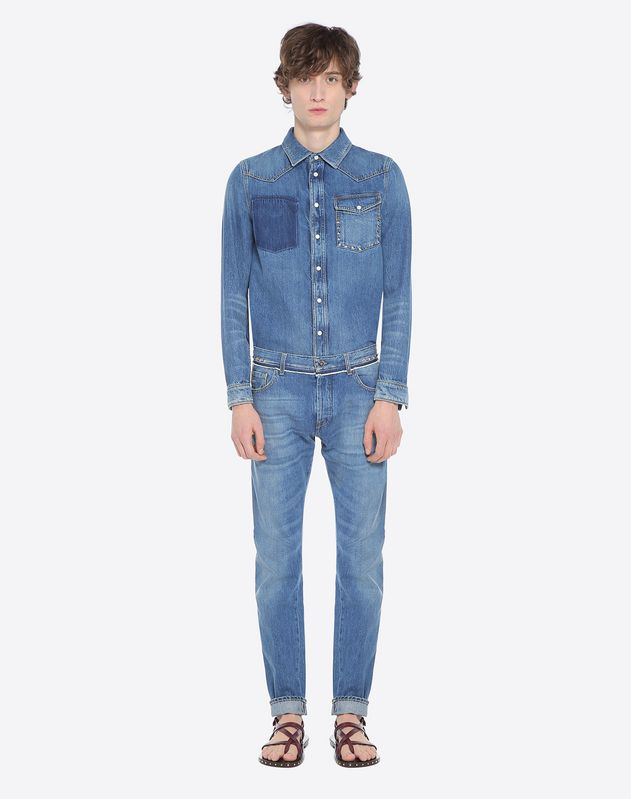 DENIM CHINOHOSE ROCKSTUD UNTITLED