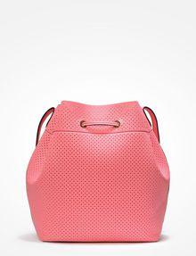 ARMANI EXCHANGE PERFORATED BUCKET BAG Satchel bag Woman d