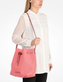 ARMANI EXCHANGE PERFORATED BUCKET BAG Satchel bag Woman r