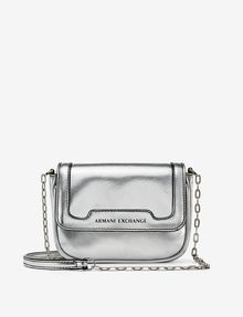 ARMANI EXCHANGE METALLIC ECO SAFFIANO CROSSBODY Bag D f