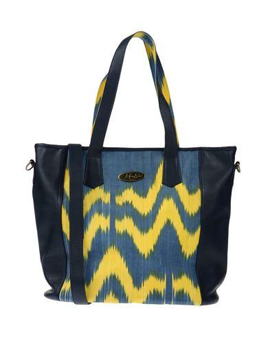 MARY SEN レディース ハンドバッグ ブルーグレー 紡績繊維 / 革