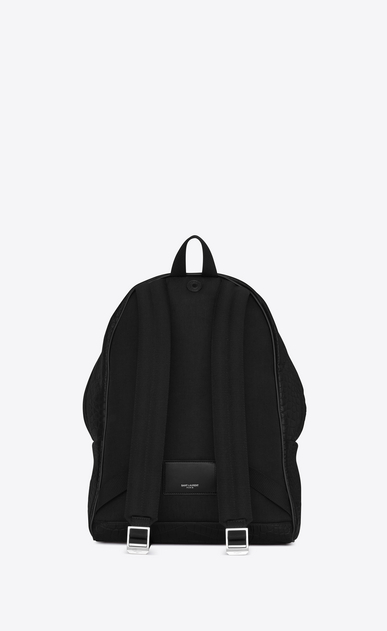 SAINT LAURENT Backpack U classic city backpack in black crocodile embossed leather b_V4