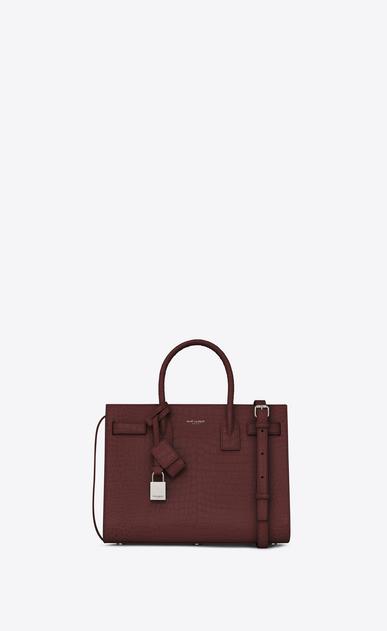 SAINT LAURENT Baby Sac de Jour D classic baby sac de jour bag in dark magenta crocodile embossed leather v4