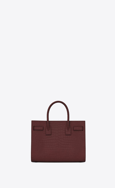 SAINT LAURENT Baby Sac de Jour D classic baby sac de jour bag in dark magenta crocodile embossed leather b_V4