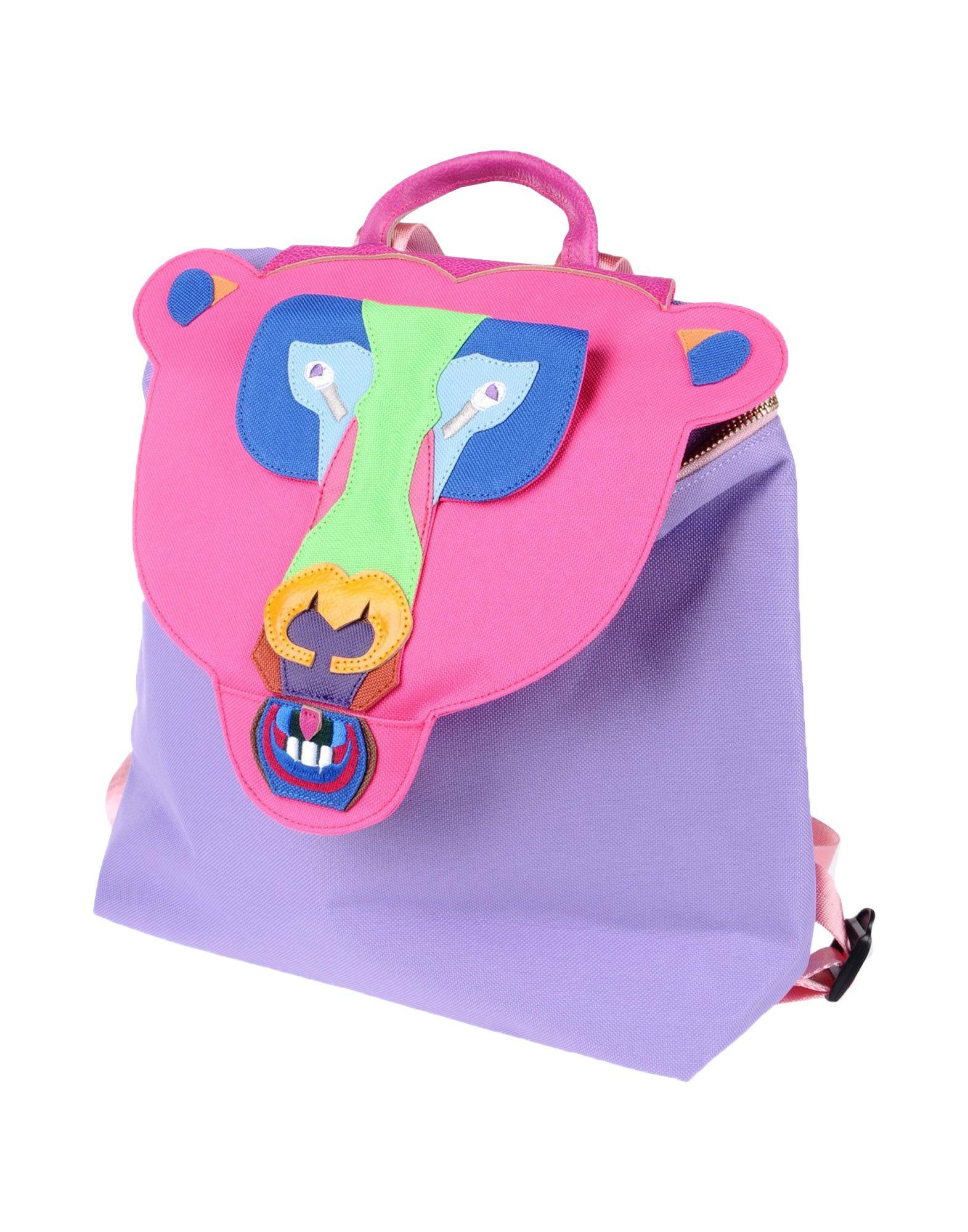 YANG DU Backpack & Fanny Pack in Fuchsia