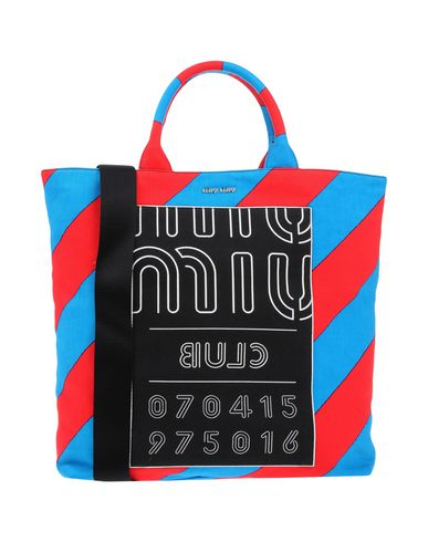 MIU MIU レディース ハンドバッグ アジュールブルー 紡績繊維