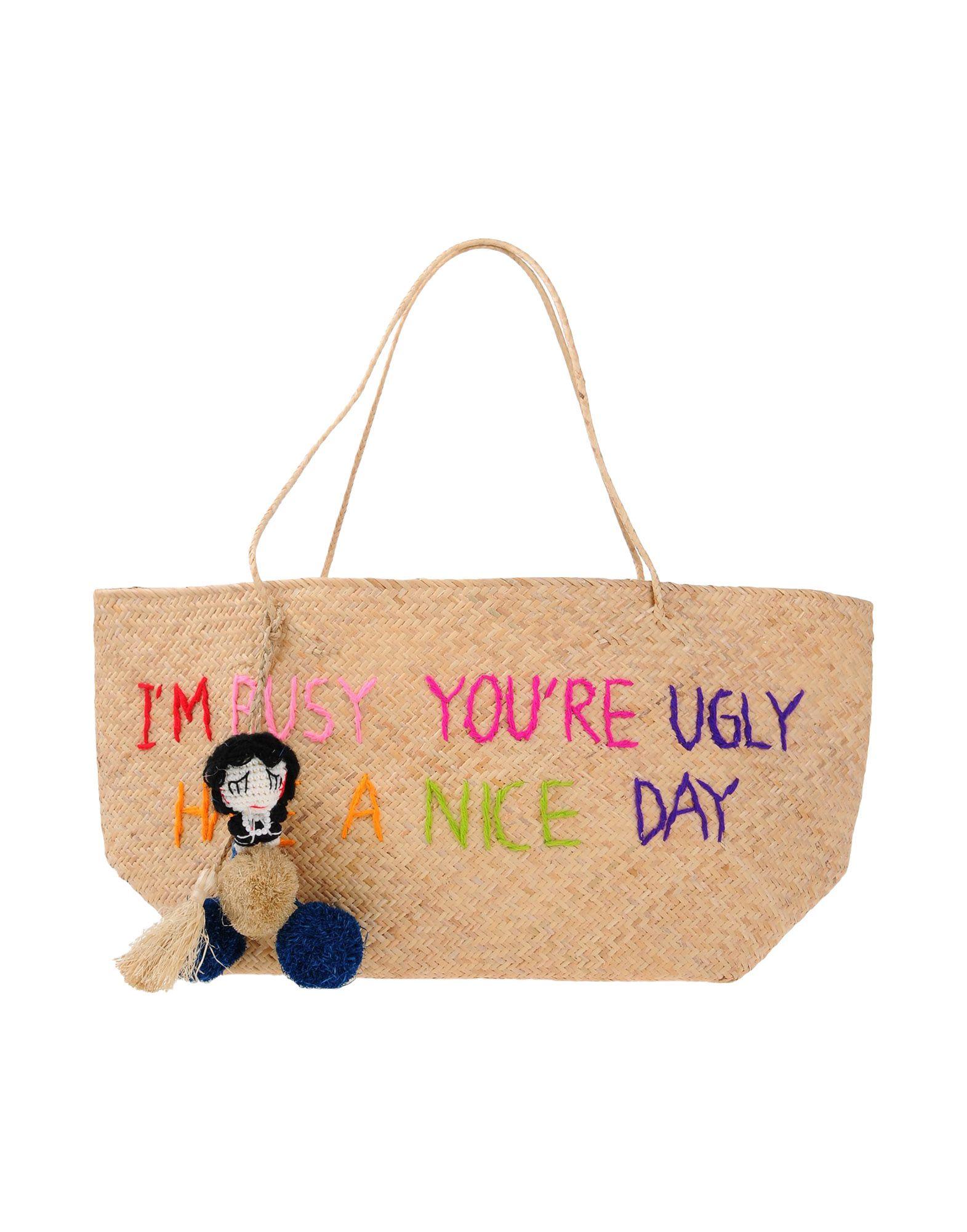THE MUA MUA DOLLS Damen Handtaschen Farbe Sand Größe 1