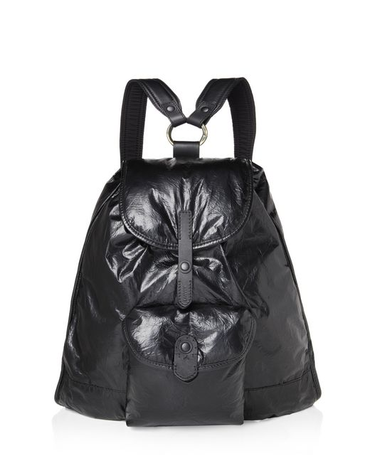 lanvin paper-effect backpack men