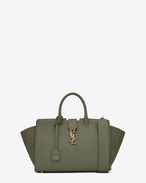 SAINT LAURENT MONOGRAMME TOTE D Small MONOGRAM SAINT LAURENT DOWNTOWN CABAS YSL Bag in Military Khaki f