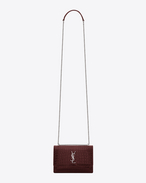 SAINT LAURENT Sunset D Portafogli SUNSET MONOGRAM SAINT LAURENT con catena rosso scuro in coccodrillo stampato f
