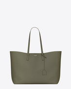 SAINT LAURENT Shopping Saint Laurent E/W D Large SHOPPING SAINT LAURENT Tote Bag in Military Khaki  f