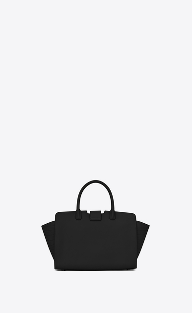 SAINT LAURENT MONOGRAMME TOTE Woman baby downtown cabas ysl bag in black leather and crocodile embossed leather b_V4