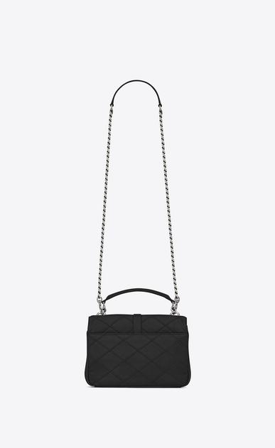 SAINT LAURENT Monogram College diamond D medium collège bag in black Diamond Matelassé Leather b_V4