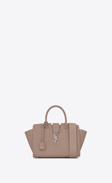 SAINT LAURENT MONOGRAMME TOTE D baby downtown cabas ysl bag in rose leather and crocodile embossed leather a_V4