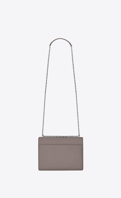 SAINT LAURENT Sunset Femme sac medium sunset monogramme en cuir gris brouillard b_V4