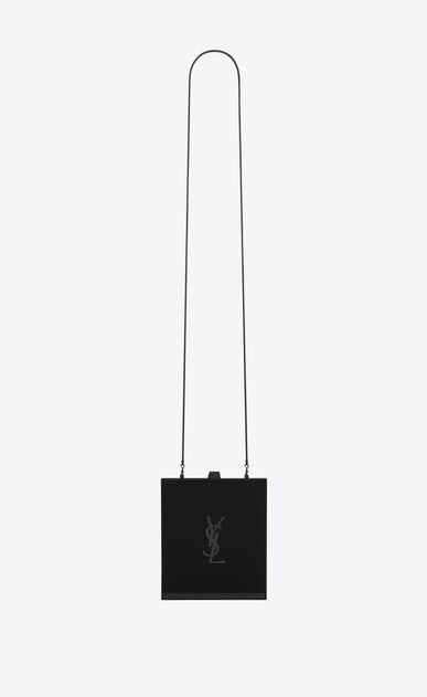 SAINT LAURENT YSL boxes Woman tuxedo box bag in black plexiglas a_V4