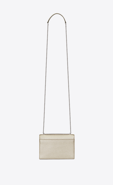 SAINT LAURENT Mini sacs Sunset Femme portefeuille à chaîne sunset en cuir or pâle b_V4