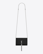 SAINT LAURENT MONOGRAM KATE WITH TASSEL D KATE MONOGRAM SAINT LAURENT Tassel Chain Wallet in Black crocodile embossed leather f