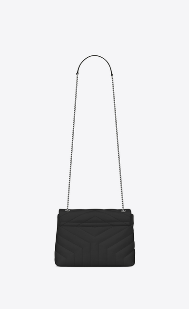 "SAINT LAURENT Monogramme Loulou D small loulou monogram chain bag in black ""y"" matelassé leather b_V4"