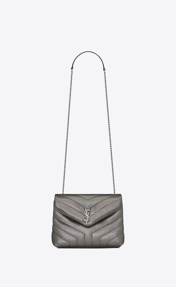 f77160009ae4 Zoom  small loulou monogram chain bag in gunmetal and black