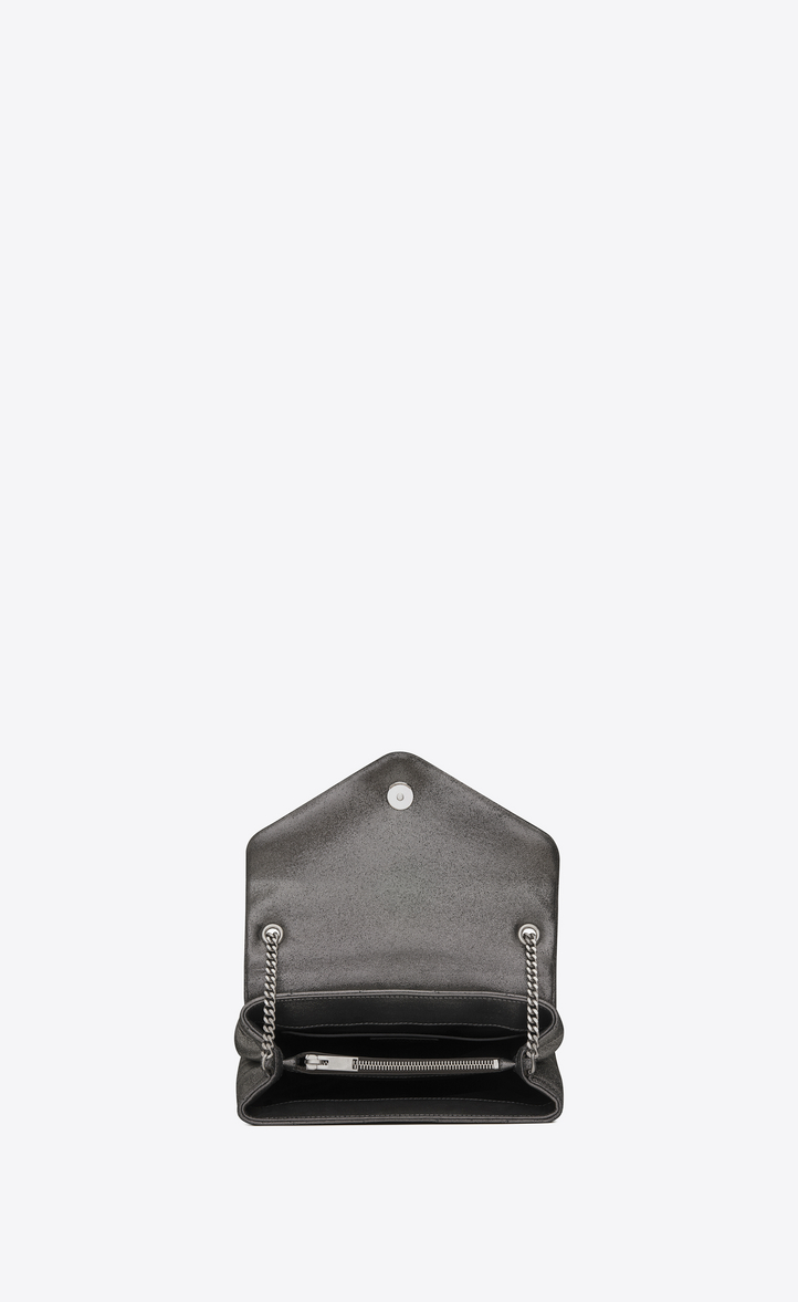 a2582eceaff1 small loulou monogram chain bag in gunmetal and black