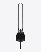 SAINT LAURENT Bucket Bag D Petit sac seau à pompon ANJA noir f