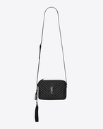 SAINT LAURENT Camera bag D small monogram camera bag in black matelassé leather f