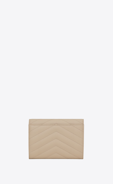 SAINT LAURENT Monogram Matelassé D monogram passport case in powder b_V4
