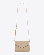 "SAINT LAURENT Monogramme Loulou D Toy loulou Strap Bag in Powder ""Y"" MATELASSÉ leather f"