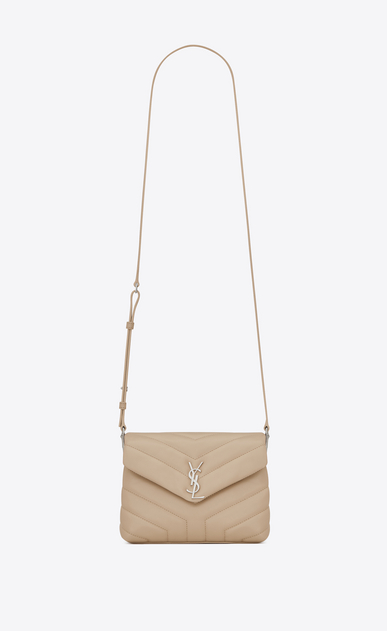 "SAINT LAURENT Monogramme Loulou D Toy loulou Strap Bag in Powder ""Y"" MATELASSÉ leather a_V4"