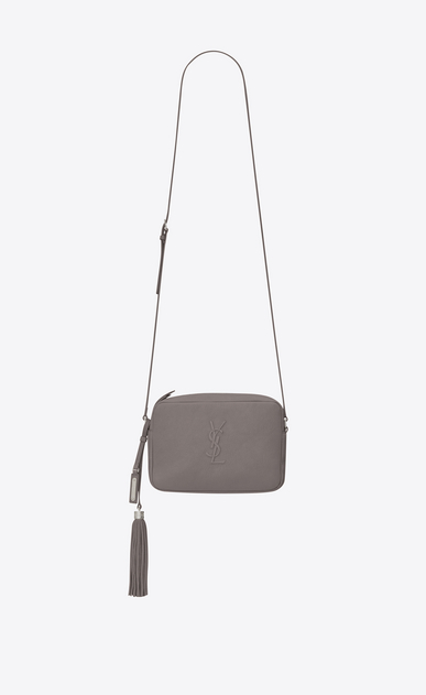 SAINT LAURENT Monogram Lou Donna lou camera bag color grigio nebbia in pelle a_V4
