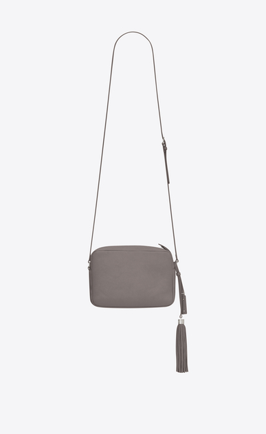 SAINT LAURENT Monogram Lou Donna lou camera bag color grigio nebbia in pelle b_V4