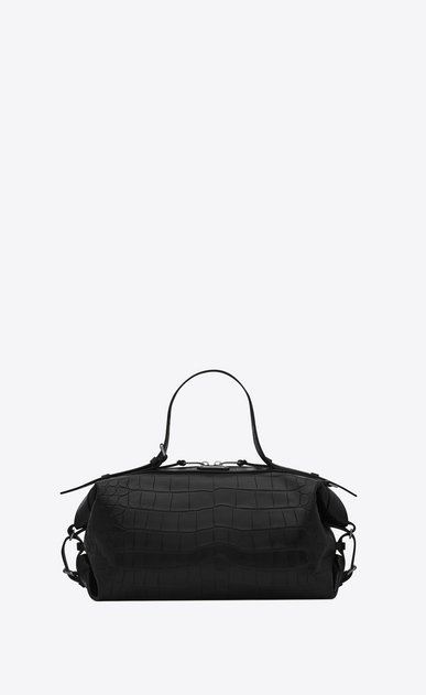 SAINT LAURENT ID D Small ID Convertible Bag in Black crocodile embossed leather v4