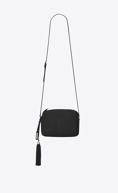 SAINT LAURENT Monogram Lou Woman lou Camera Bag in Black leather a_V4