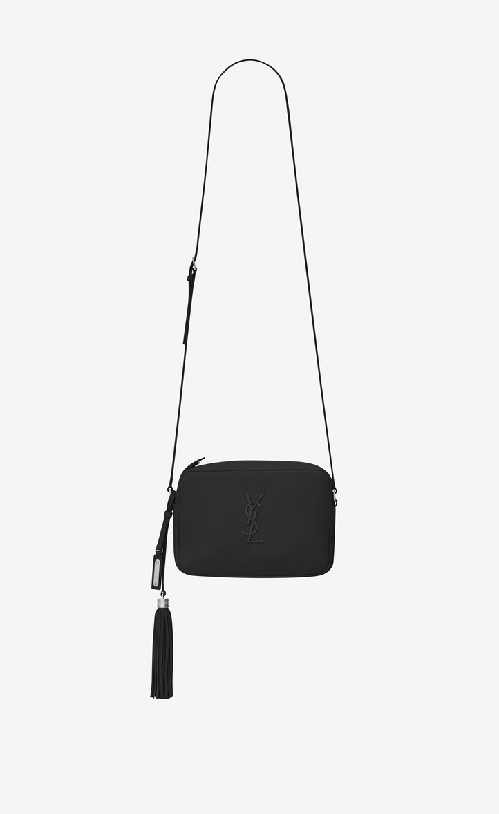 Lou Camera Bag In Smooth Leather Front View