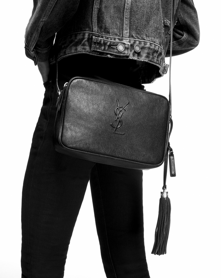 Saint Laurent Lou Camera Bag In Black Leather Ysl Com