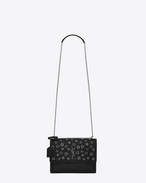 SAINT LAURENT Sunset D Mittlere Sunset Monogram Saint Laurent Baby Tasche in Schwarz mit Nieten f