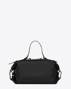 SAINT LAURENT ID D small id convertible bag in black perforated leather f