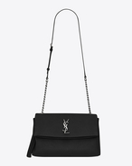 SAINT LAURENT West Hollywood D sac à pompon monogramme west hollywood en cuir noir f