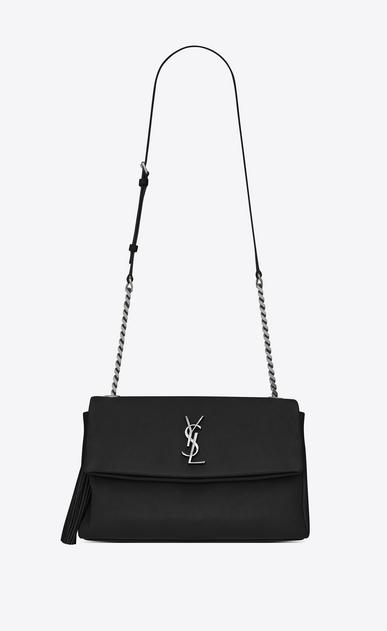 SAINT LAURENT West Hollywood D monogram west hollywood tassel bag in black leather a_V4