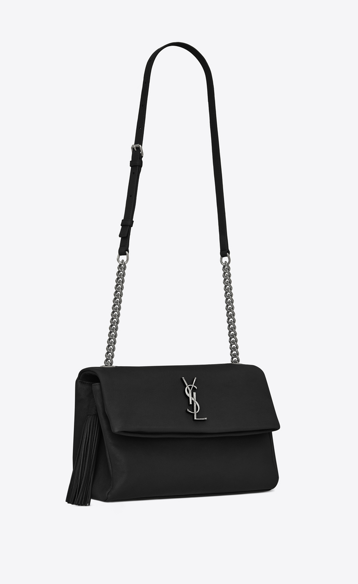 bdc3084b4a9 Zoom  monogram west hollywood tassel bag in black leather, Another angle  view
