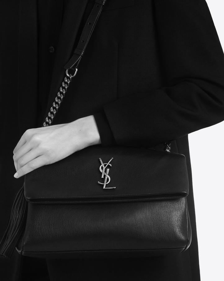 Saint Laurent Monogram West Hollywood Tassel Bag Nera In Pelle ... 7406bb05fe9