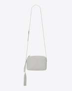 SAINT LAURENT Camera bag D Small monogram lou Camera Bag in Chalk White f