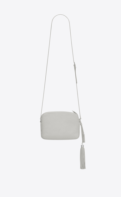 SAINT LAURENT Camera bag Woman lou camera bag in chalk white leather b_V4