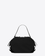 SAINT LAURENT Messenger And Crossbody U Medium ID Convertible Bag in Black canvas f