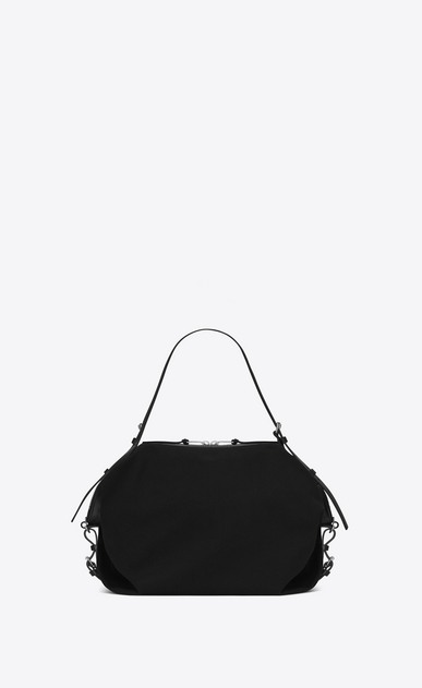 SAINT LAURENT ID bags U Medium ID Convertible Bag in Black canvas b_V4